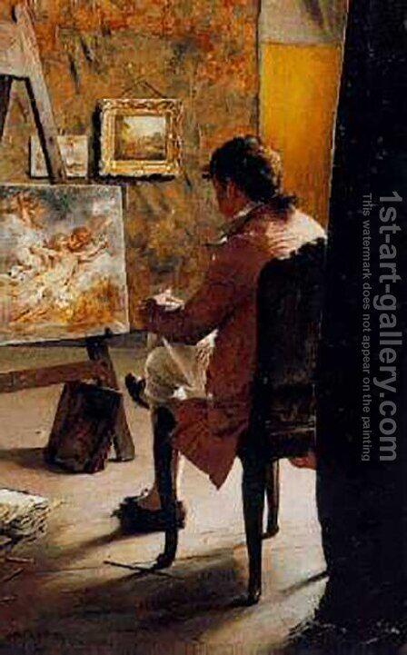 The Painter by Ignaz-Marcel Gaugengigl - Reproduction Oil Painting