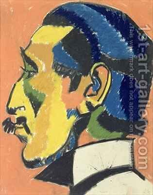 Portrait of Horace Brodsky 1885-1969 by Henri Gaudier-Brzeska - Reproduction Oil Painting