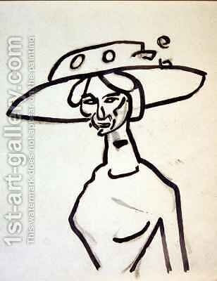 A Broad Brimmed Hat by Henri Gaudier-Brzeska - Reproduction Oil Painting