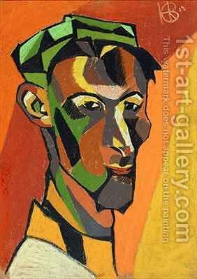 Self Portrait by Henri Gaudier-Brzeska - Reproduction Oil Painting