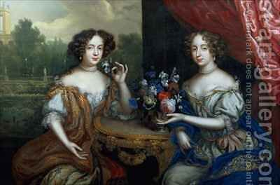 Portrait of Lady Anne Barrington and Lady Mary St John by Henri Gascard - Reproduction Oil Painting
