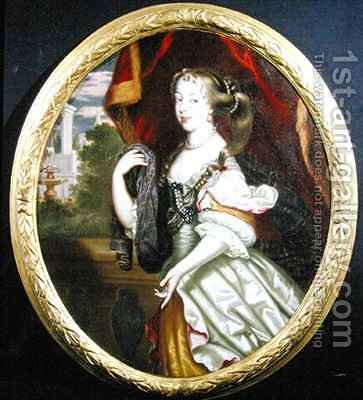 Portrait of Jane Needham 1646-1702 Mrs Myddleton by Henri Gascard - Reproduction Oil Painting