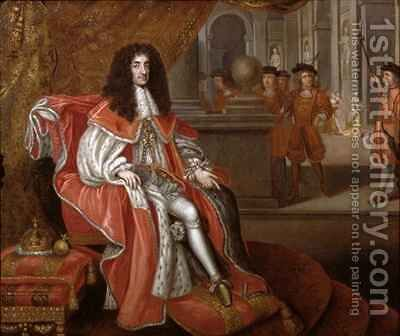 Charles II at Court 2 by Henri Gascard - Reproduction Oil Painting