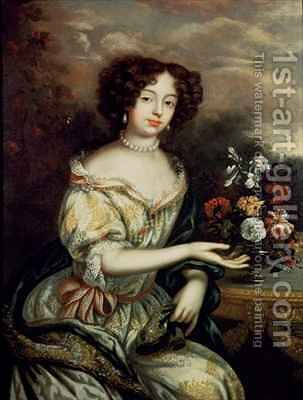 Portrait of Louise Renee Kerouaille Duchess of Portsmouth and Aubigny 1649-1734 mistress of Charles II by Henri Gascard - Reproduction Oil Painting