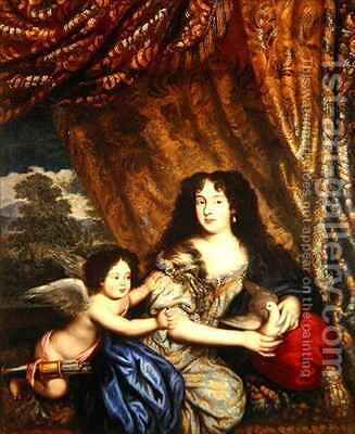 Louise de Keroualle 1649-1734 by Henri Gascar - Reproduction Oil Painting
