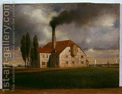 Ceramics Factory belonging to Ernst March Sophienstrasse Charlottenburg Berlin by Eduard Gartner - Reproduction Oil Painting