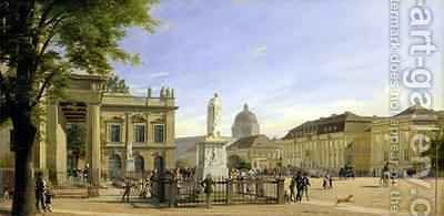 New Guardshouse Arsenal Princes Palace and Castle in Berlin by Eduard Gartner - Reproduction Oil Painting