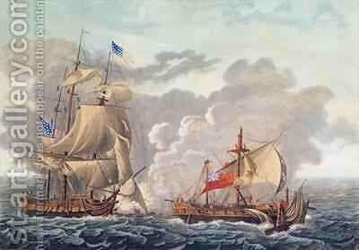 The Taking of the English Vessel The Java by the American Frigate The Constitution by (after) Garneray, Louis Ambroise - Reproduction Oil Painting
