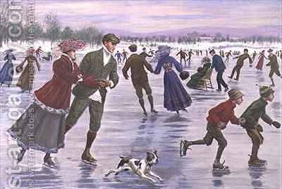 The Glory of a Winters Day by Arthur Burdett (Sr.) Frost - Reproduction Oil Painting