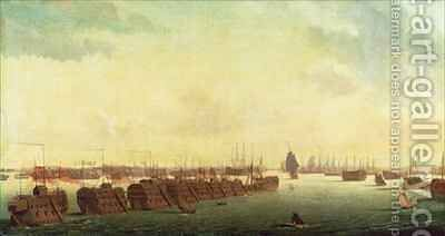 Prison Hulks in Portsmouth Harbour by Ambroise-Louis Garneray - Reproduction Oil Painting
