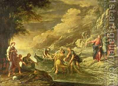 The Calling of SS Peter and Andrew by Domenico (Micco Spadaro) Gargiulo - Reproduction Oil Painting