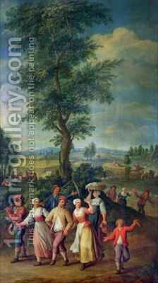 Gathering the Harvest by Jan-Anton Garemyn - Reproduction Oil Painting
