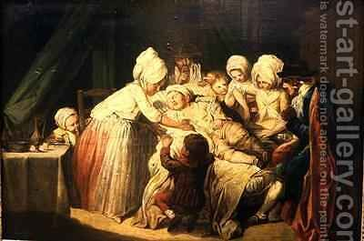 The Sick child by Jacques Gamelin - Reproduction Oil Painting
