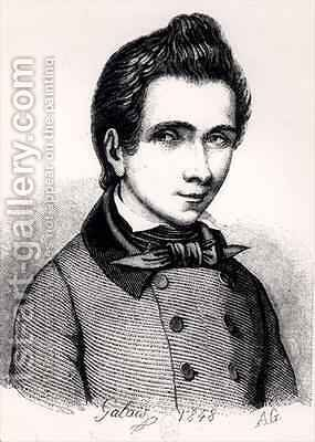 Evariste Galois 1811-32 by Alfred Galois - Reproduction Oil Painting