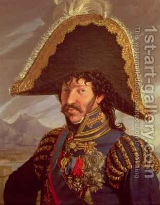 Portrait of Joachim Murat French Cavalry Commander for Napoleon by A. Galliano - Reproduction Oil Painting