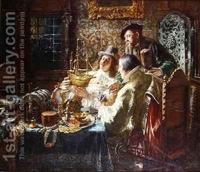 The Treasure Chest by Jacob Emmanuel Gaisser - Reproduction Oil Painting