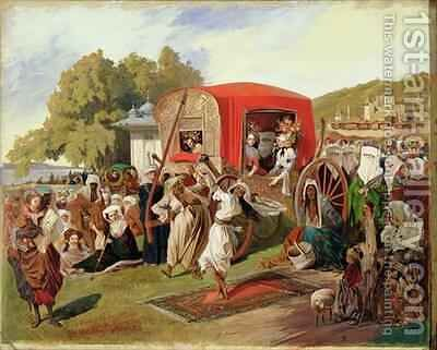 Outdoor Fete in Turkey by Grigori Grigorevich Gagarin - Reproduction Oil Painting