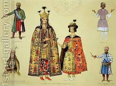 Costumes of the 17th and 18th centuries by Grigori Grigorevich Gagarin - Reproduction Oil Painting