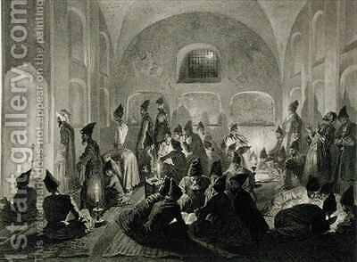 Persian Mosque at Yerevan Armenia a Night During Ramadan by (after) Gagarin, Grigori Grigorevich - Reproduction Oil Painting