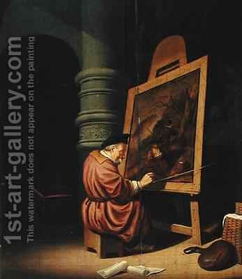 Interior of a Studio or A Painter in his Studio by Adriaen van Gaesbeeck - Reproduction Oil Painting