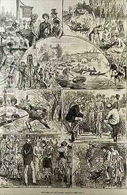 Sketches at the Henley Regatta by (after) Furniss, Harry - Reproduction Oil Painting