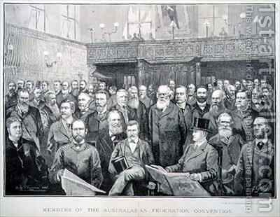 Members of the Australian Federation Convention by Albert Henry Fullwood - Reproduction Oil Painting