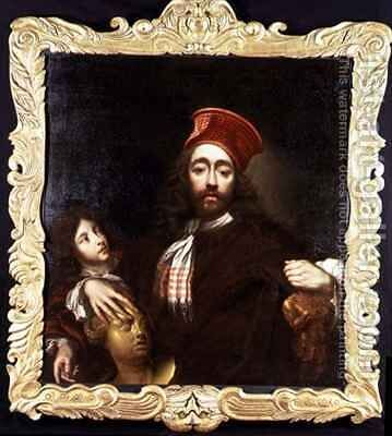 Portrait of the Artist and his Son by Isaac Fuller - Reproduction Oil Painting