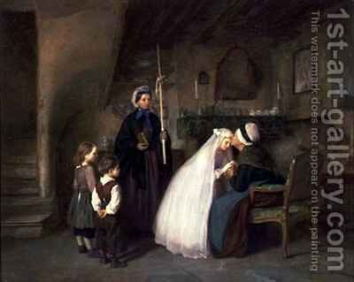The First Communion by Edouard Frère - Reproduction Oil Painting