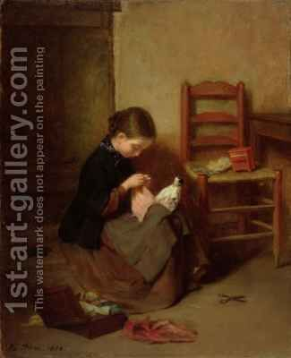 The Little Dressmaker by Edouard Frère - Reproduction Oil Painting