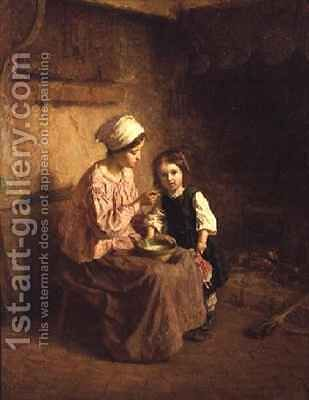 Supper Time by Charles Edouard Frere - Reproduction Oil Painting
