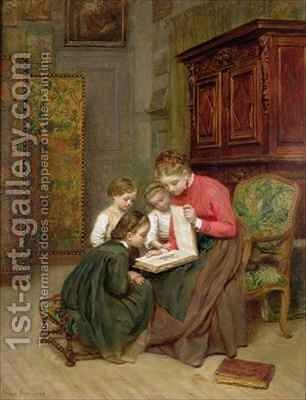 The Family Album by Charles Edouard Frere - Reproduction Oil Painting