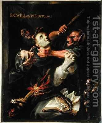The Blessed Guillaume de Toulouse 755-812 Tormented by Demons by Ambroise Fredeau - Reproduction Oil Painting