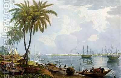 A View of Calcutta by (after) Fraser, James Baillie - Reproduction Oil Painting
