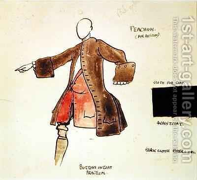 Costume design for Peacham in The Beggars Opera by Claud Lovat Fraser - Reproduction Oil Painting