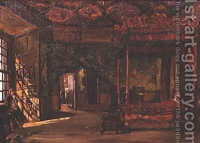 Queen Marys Bedroom Holyrood by Alexander Jnr. Fraser - Reproduction Oil Painting