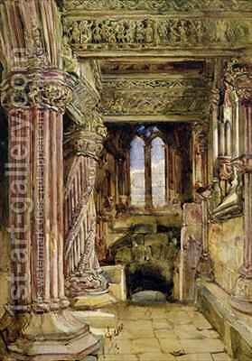 Rosslyn Chapel Scotland by Alexander Jnr. Fraser - Reproduction Oil Painting