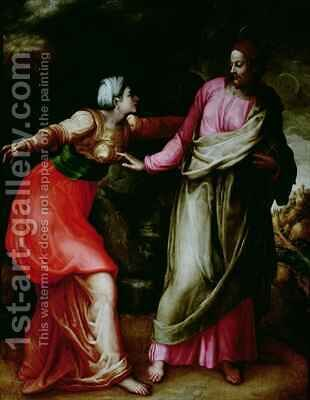 Noli Me Tangere by Battista Franco - Reproduction Oil Painting