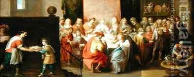 The Marriage Feast at Cana by Hieronymus II Francken - Reproduction Oil Painting