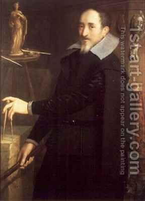 Portrait of a Sculptor in his Studio by Hieronymus Francken - Reproduction Oil Painting
