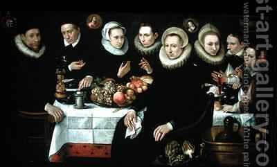 The Family of Adrien de Witte 1555-1616 by Hieronymus Francken - Reproduction Oil Painting