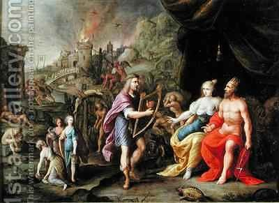 Orpheus in the Underworld by Ambrosius Francken - Reproduction Oil Painting