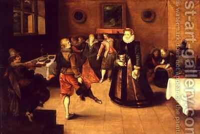 The Dance Lesson by Ambrosius II Francken or Franck - Reproduction Oil Painting