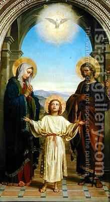 Holy Family by Alessandro Franchi - Reproduction Oil Painting