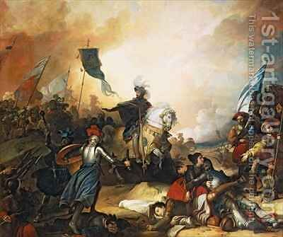 The Battle of Marignan by Alexandre Evariste Fragonard - Reproduction Oil Painting