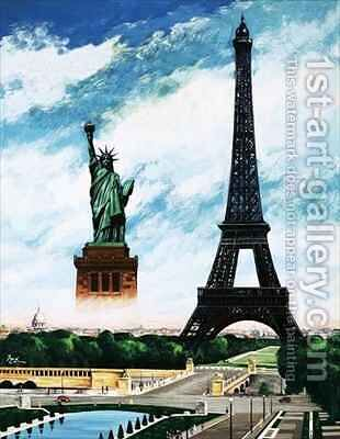Who built the Eiffel Tower Alexandre Gustave Eiffel by Henry Charles Fox - Reproduction Oil Painting