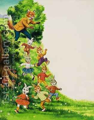 Brer Rabbit 10 by Henry Charles Fox - Reproduction Oil Painting