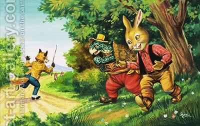 Brer Rabbit 23 by Henry Charles Fox - Reproduction Oil Painting