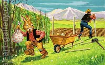Bear Rabbit 8 by Henry Charles Fox - Reproduction Oil Painting