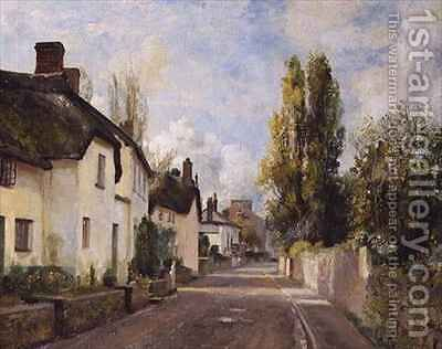 Village Street Scene by Charles James Fox - Reproduction Oil Painting