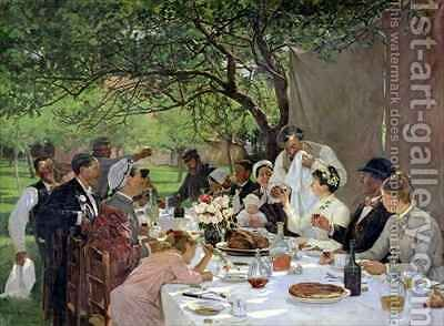 The Wedding Meal at Yport by Albert-Auguste Fourie - Reproduction Oil Painting